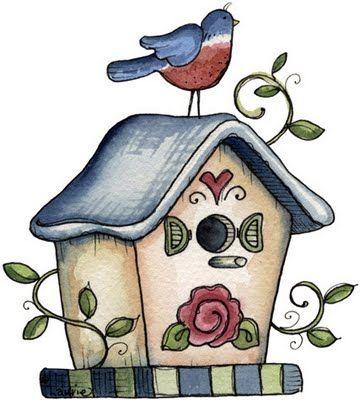 Borboleta Azul: Ilustrações de Laurie Furnell/Casinhas de Passarinhos