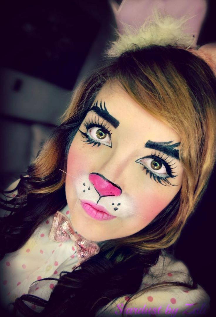 Our Easter Bunny Makeup Tutorial Results In This Colorful And Cute Bunny  Face