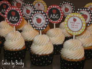Teacher Appreciation Cupcakes