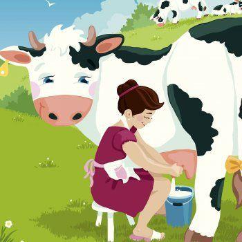 La lechera, una fábula tradicional con moraleja para niños. Esta fábula enseña a los niños que quien mucho quiere puede quedarse sin nada. Cuento sobre la avaricia.