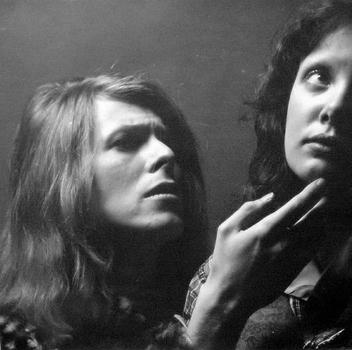 David Bowie & Dana Gillespie photographed by Brian Ward
