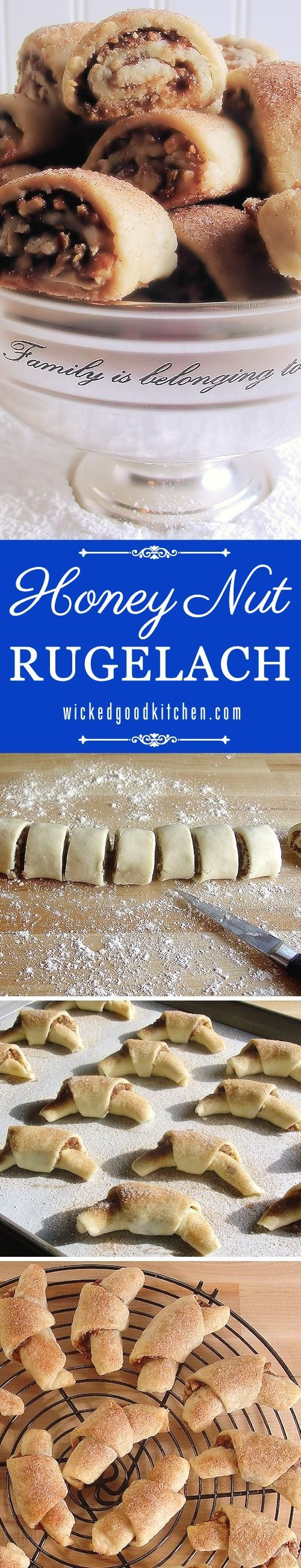 honey nut rugelach holiday cookies scrumptious and the best buttery and flaky cream cheese