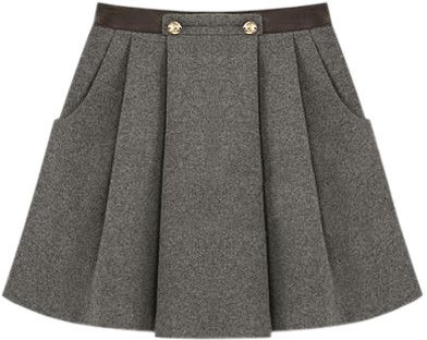 Chic Style Dark Grey Skirt