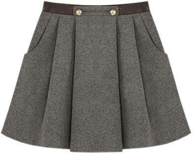 Chic Style Dark Grey Skirt