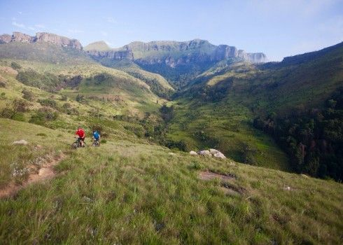Drakensberg Trails Mountain Biking Weekend with All Out Adventures. All Out Adventures offers guided mountain biking experiences on the Drakensberg trails network and other wilderness routes. Several accommodation venues offer direct access to the trails and we will consult with clients to arrange one that suits their particular needs. http://bit.ly/29abu0i #dirtyboots #southafrica #drakensberg #mountainbiking #guidedtrip #cyclingtrip #africa #holiday