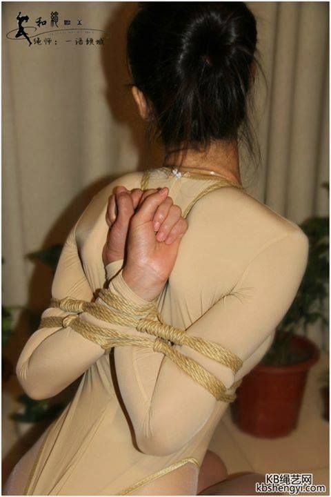 Nice reverse prayer hogtie - 3 part 5