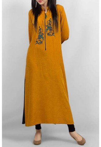 Grapes The Brand Linen Self Print Women Kurta Collection