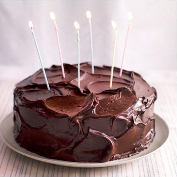 день рождения, торт, свечи, шоколад, приятное