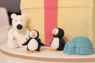sharon wee - wee love baking - christmas - christmas cake toppers - polar bear, penguins & igloo