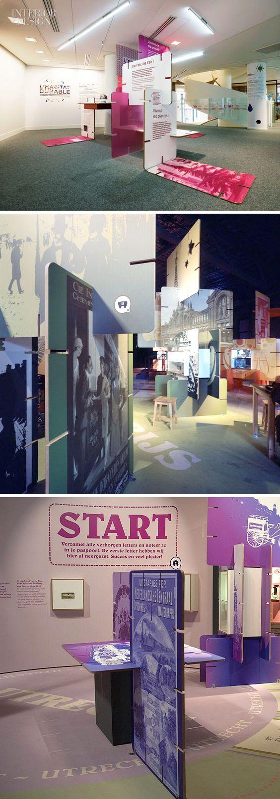 Exhibition design displays panel cardboard Eames cards | diseño de exposiciones son soportes y aneles autoencajables http://cartonlab.com/diseno-de-exposiciones-carton/