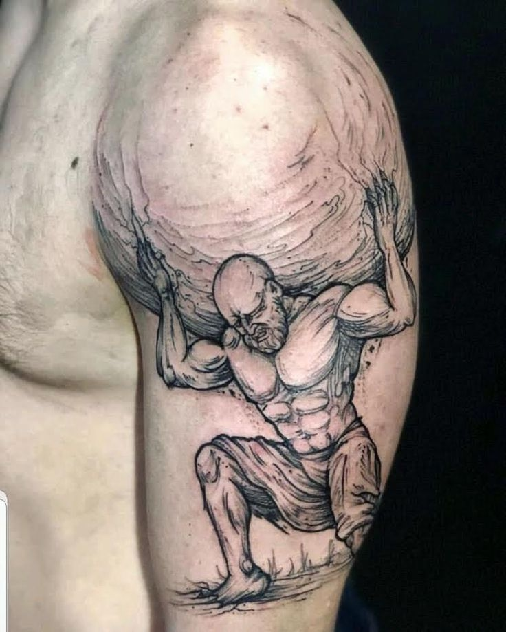 Weight of the World by Tim! tattoo tattoos