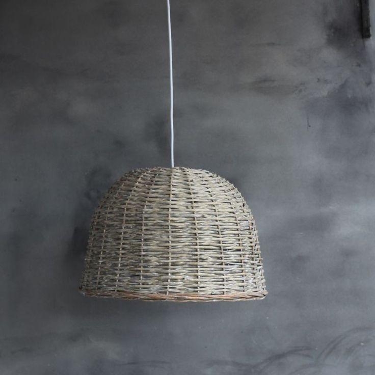 h ngelampe rattan korb leuchte landhaus pendel decken. Black Bedroom Furniture Sets. Home Design Ideas
