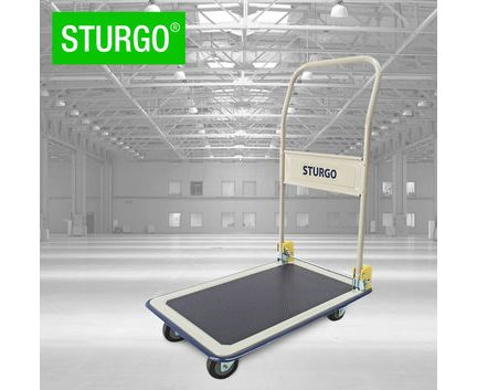 STURGO Platform Trolley with folding handle. Buy Trolleys / Carts Online - Hand Trolleys, Hand Carts - Backsafe Australia