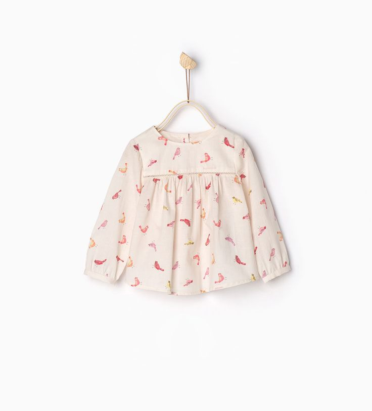 Birds large blouse-SHIRTS-BABY GIRL | 3 months-3 years-KIDS | ZARA United States