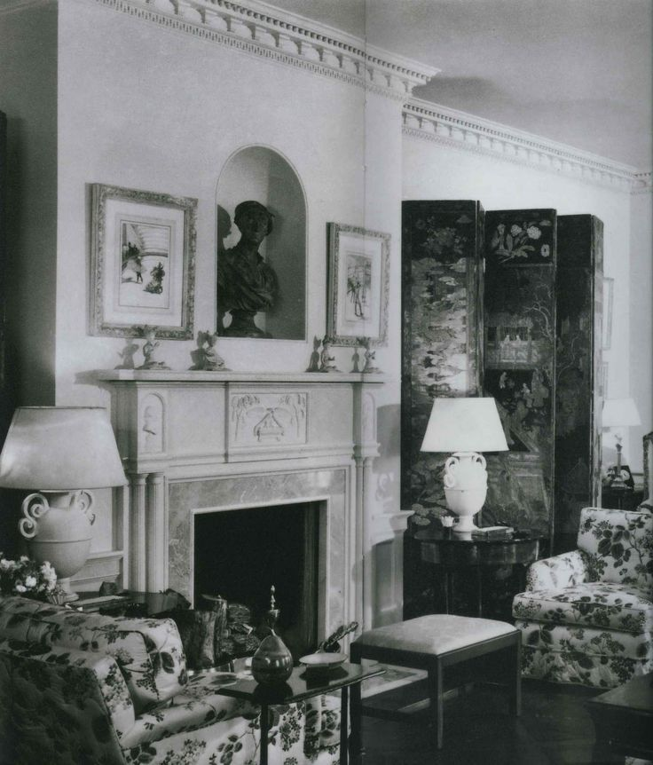 Frances Elkins. The Living Room Of Mrs. Evelyn Marshall
