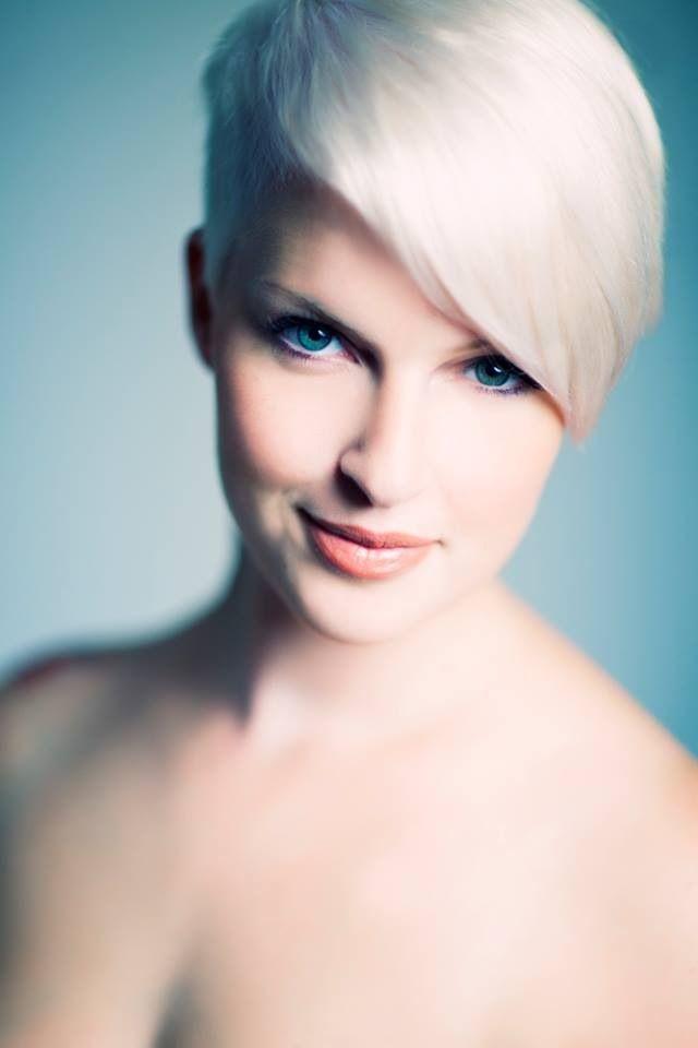 Pixie cut, white short hair, beautiful