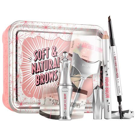 Shop Benefit Cosmetics' Soft & Natural Brow Kit at Sephora. This trio features everything you need to shape, fill, and set brows.