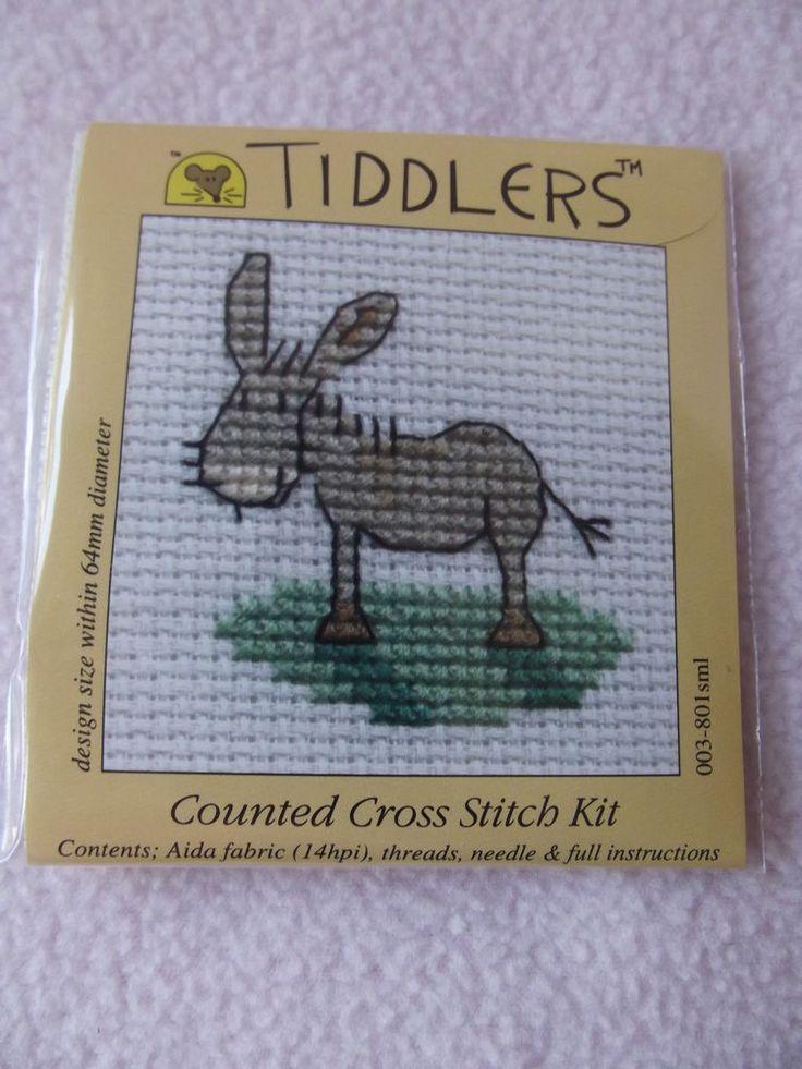 MOUSELOFT TIDDLERS CROSS STITCH KIT ~ DONKEY ~ NEW ~ 5.5cm x 5.5cm
