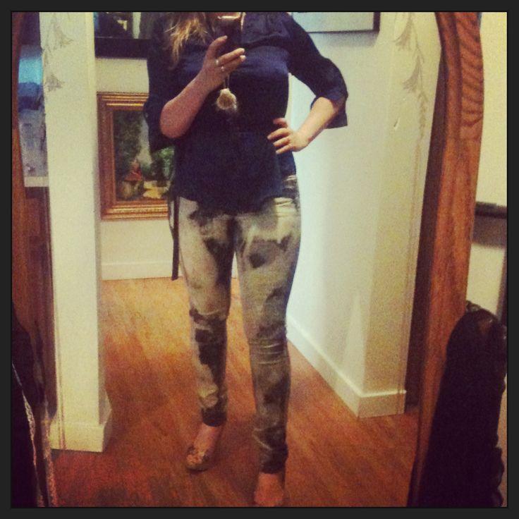 Revamped black jeans by Monika Blichar