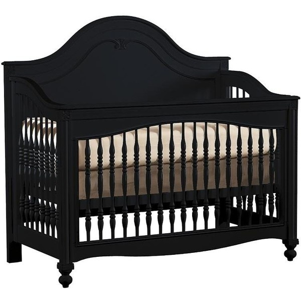 Stanley Light Antique Black Baby Crib: Stanley Young America Baby Furniture from Baby Bedding Town found on Polyvore