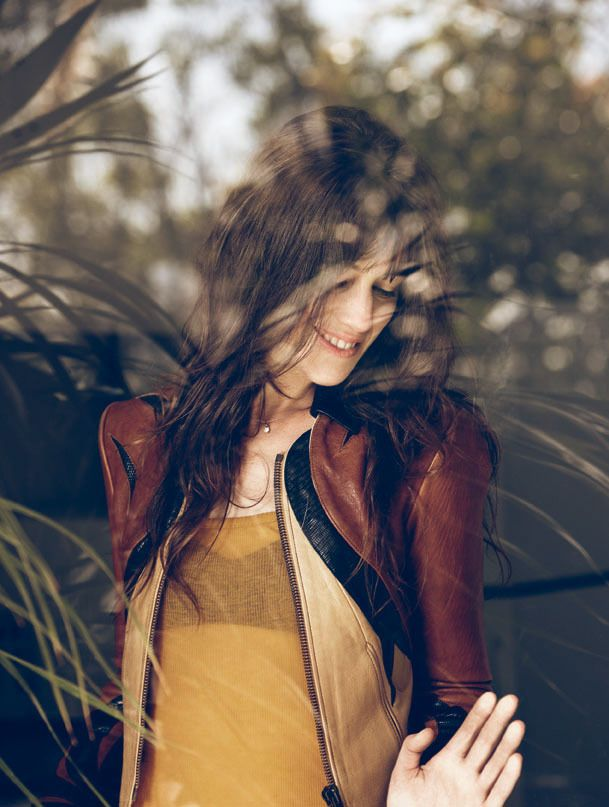 Charlotte Gainsbourg, in Air France magazine...the color...the jacket...the photo....