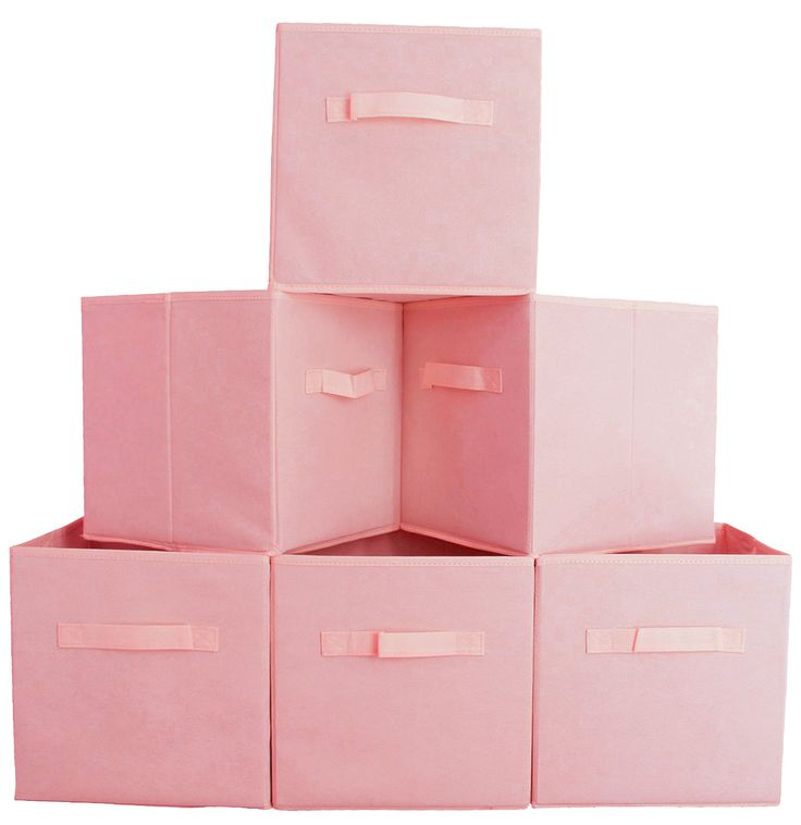 Fabric Cube Storage Bins (6 Pack)