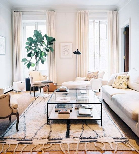 Ideas To Steal Layered Rugs And A Leggy Visually Light Coffee Table Living E Pinterest Room Home Decor