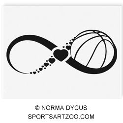 Basketball Love Infinity Temporary Tattoo by SportsArtZoo. If you want to use this design please pay for it. It is not expensive.