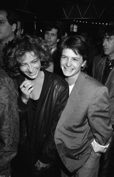 Jennifer Grey and Michael J. Fox