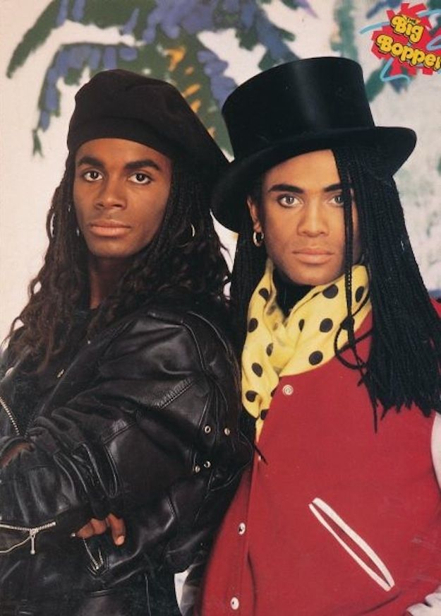 Milli Vanilli... I saw them in concert shortly before they were busted for lip-syncing!