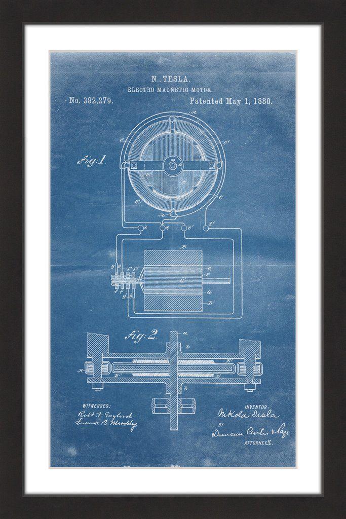 34 best tesla blueprints images on pinterest bricolage technology tesla motor 1888 blueprint malvernweather Choice Image