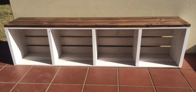 17 best images about best picks for my tiny on pinterest for Wood crate bench