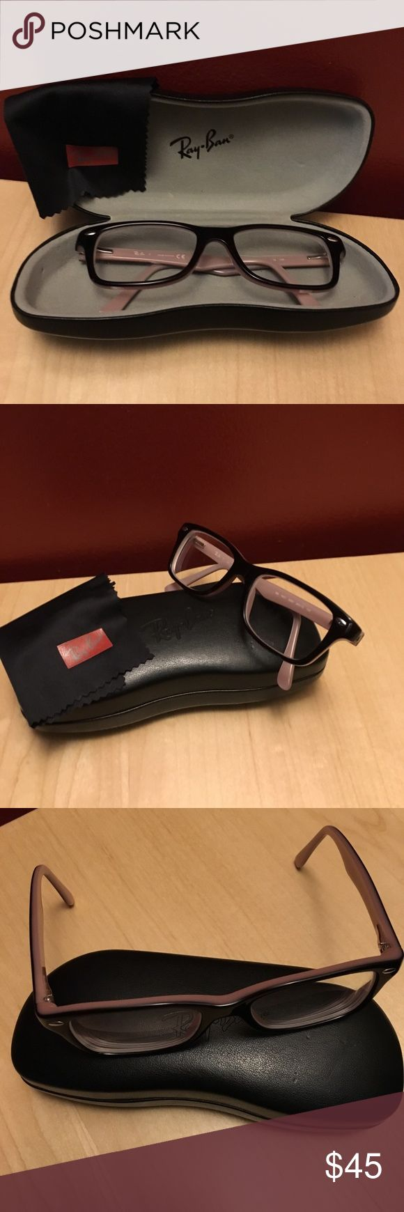 Ray Ban Junior RB 1531 Brown/Pink GUC these glasses are pre-owned with a minimal amount of wear on the frames. The lenses will needed to be changed to your own prescription. Ray-Ban Accessories