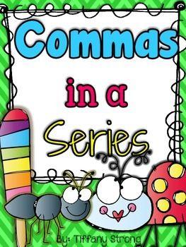 Commas in a series grade 2