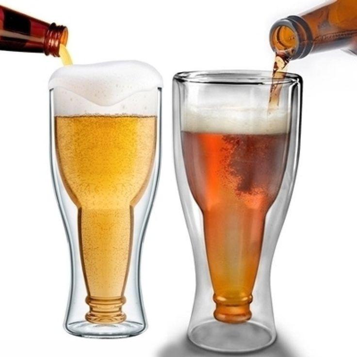\r\nÍzlésesen üvegből! Dupla falú söröspohár 0, 33l A pohárban egy fordított sörösüveg található! A csomag 2darabot tartalmaz.\r\n