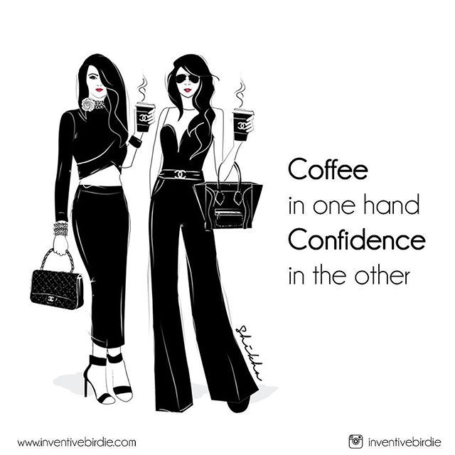 "Monday Morning Chics ""COFFEE IN ONE HAND CONFIDENCE IN OTHER"" ☕️#fashionillustration #fashiondrawing #fashiongram #fashionblogger #fashionsketch #entrepreneurlifestyle #illustration #followme #commissionedartist #goodvibes #artwork #luxuryshopping #luxurylife #harpersbazaar #vogue #inventivebirdie #love #instagood #melbournecafe #artoftheday #sevenseeds #mondaymotivation #melbournecoffee #chanelgirl #coffee #bossbabe #chanel #melbourneartist #melbournegirl #melbourne 💋🌸"