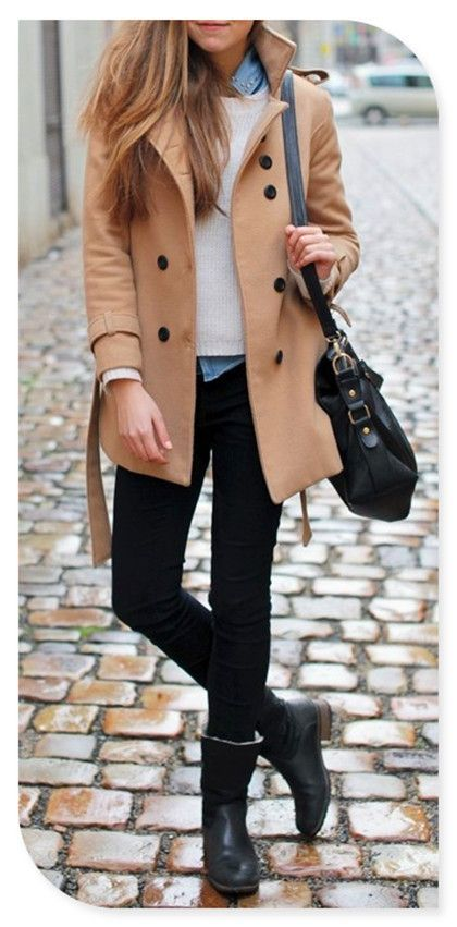 Coats are everything this winter! Loving this light tan one, great alternative to the usual greys and blacks