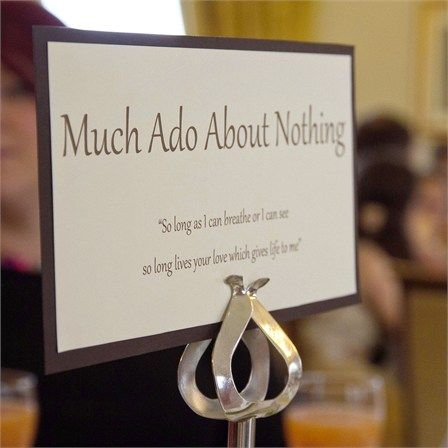 table names - Shakespeare related