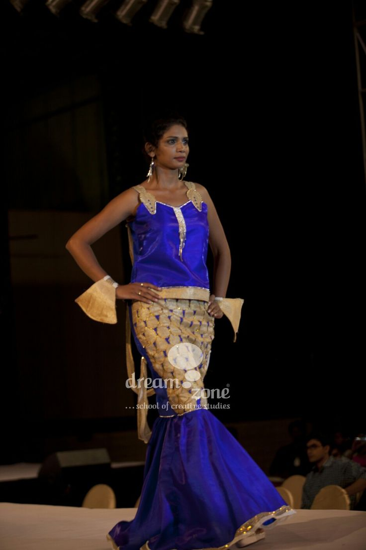 Fish teams dress designed  by Abhi     boutique