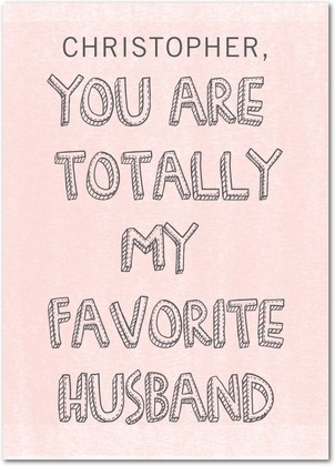 Valentine's Day Cards from Treat.com - Favorite Husband