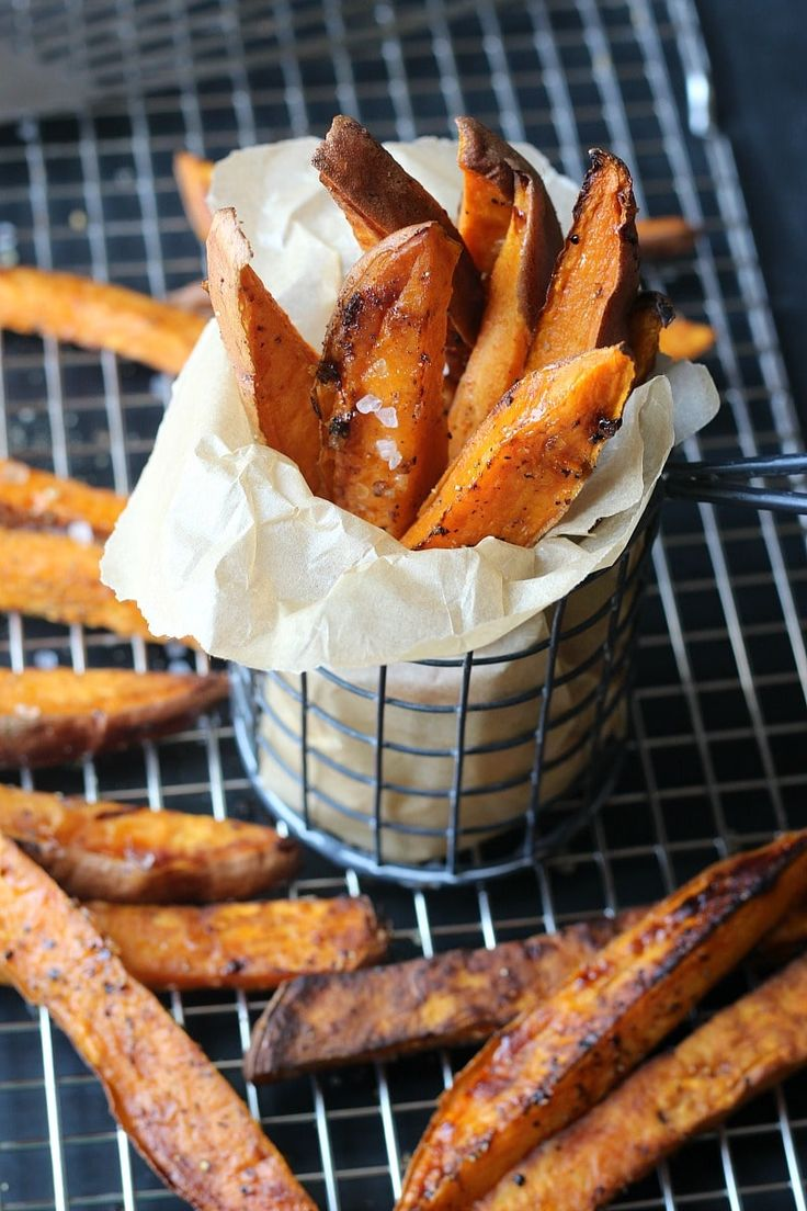 These Sea Salt Sweet Potato Steak Fries are clean, crispy, tasty and super easy to make with half the calories to add to your belt.