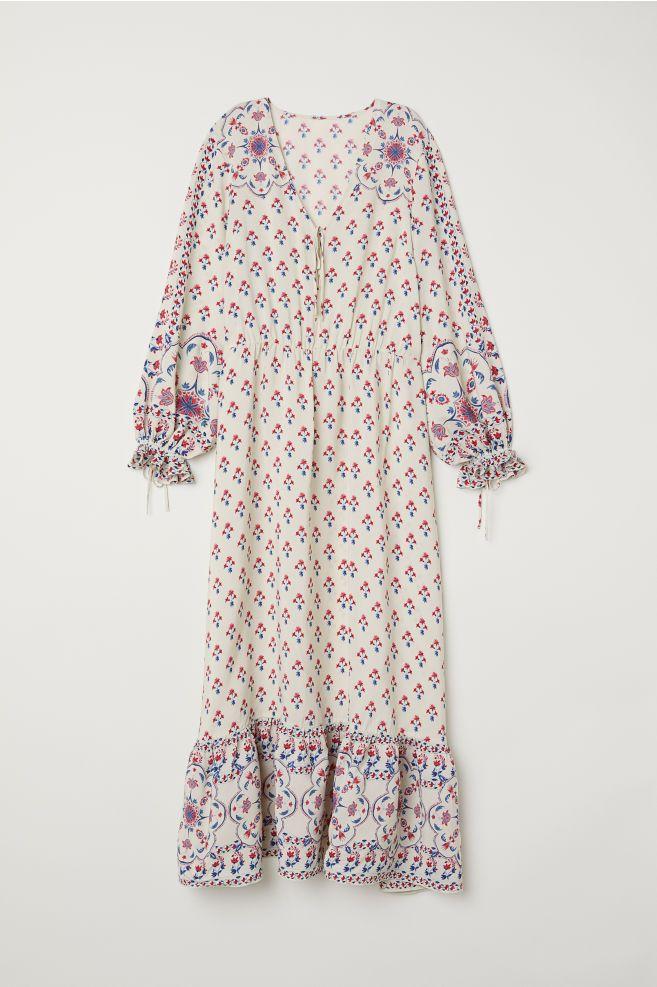 Vestido largo con estampado - Crema/Estampado - MUJER | H&M ES 4