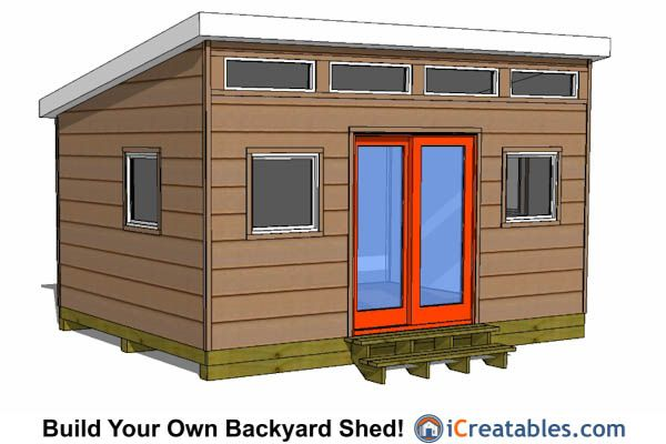 12x16 studio shed plans with door on center 12x16 shed Workshop plans 12x16