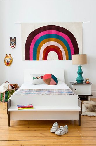 'Rainbow Rug - White/Multi by Oeuf. @2Modern'