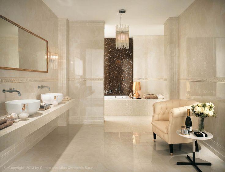 Marvel luxusní koupelnové obklady a dlažba / wall and floor tiling in bathroom