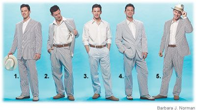 A Wall Street Journal article on how to find a seersucker suit.