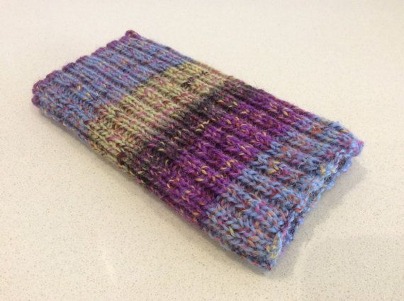 Knitted iPhone sock for 7 6 6S smartphone cover case purple