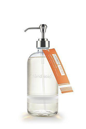 Caldrea Orange Freesia Glass Hand Soap 15.5 fl ounces