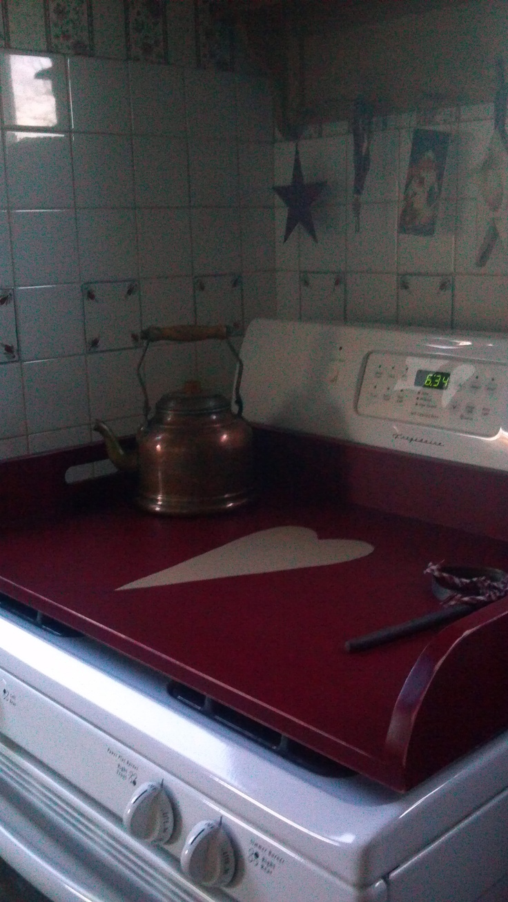 Primitive Stove Top... so cool!! Gives me a lot more work space...