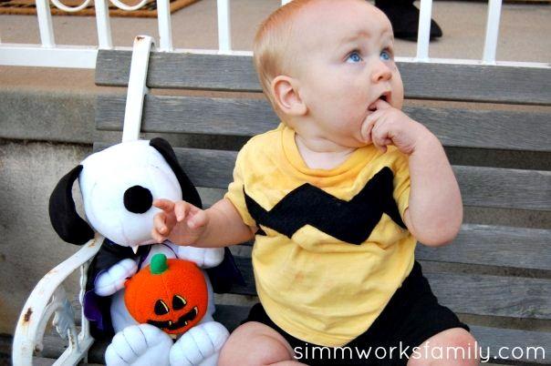 Charlie Brown Halloween Costume for Baby - Simmworks Family Blog
